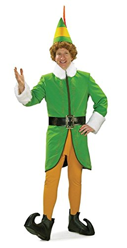 Adult Buddy Elf Costumes (Rubie's Buddy The Elf Deluxe Costume - Adult 25540)