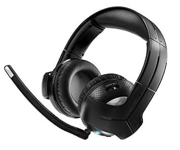 Thrustmaster Y-400Pw auricular con micrófono Binaural Diadema Negro - Auriculares con micrófono (PC/Juegos, Binaural, Diadema, Negro, PC/PS3, Inalámbrico): ...
