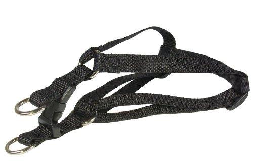 Sassy Dog Wear 8-16-Inch Black Nylon Webbing Dog Harness, X-Small