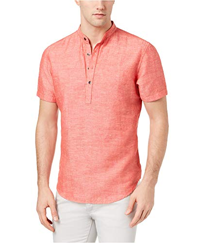 INC International Concepts Men's Cameron Linen Shirt Cameron Button Down Shirt