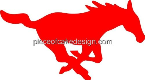 1/4 Sheet ~ Mustangs Team Mascot ~ Edible Cake/Cupcake Topper!!! (Mustang Cake)