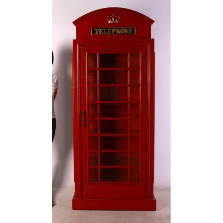 Amazon.com: RED british PHONE Booth London glass SHELF old cast ...