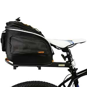 Ibera PakRak Quick-Release Mini Commuter Bike Trunk Bag and Seat-Post Bicycle Carrier Rack Combo