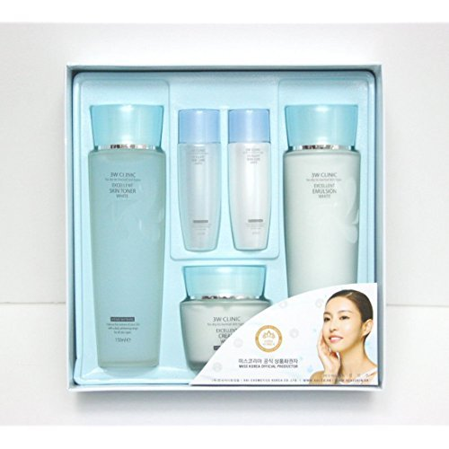 3wclinic Excellent White Skin Care 3set,whitening Functional,all Skin Type,gift Mask Pack by 3W Clinic