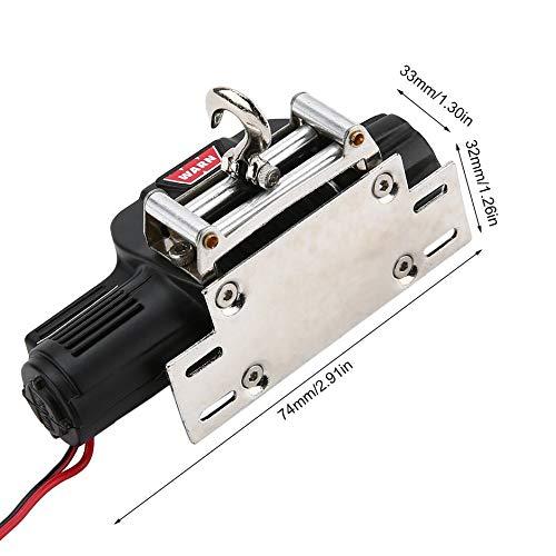 WEIWEITOE-ES 1//10 Simulaci/ón RC Escalada Control de Radio de Coche Full Metal Winch para 1//10 TRX-4 Axial SCX10 RC4WD D90 D10 Balck,