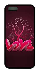 3D heart and tree pc Black luxury iphone 5 case for Apple iPhone 5/5S