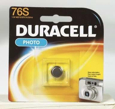 5 each: Duracell Silver Oxide Photo/ Electronic Battery (MS76BPK)