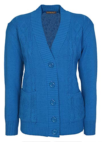 FEMMES 20 tricot DE CLASSIQUE 10 NEUF Tailles torsad cardigan DAMES Tx5n0O8