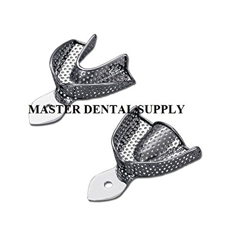 Dental Impression Trays Perforated STAINLESS STEEL METAL 10 Pcs ALL SIZES Autoclavable. Ships from USA.