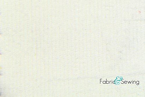 (White 16 Wale Corduroy Fabric 4 Way Stretch Cotton Spandex Lycra 7 Oz 58-60