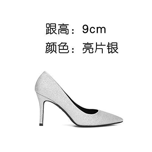 FLYRCX Zapatos de Tacón delgado sexy mujer de personalidad fuerte y única parte zapatos Zapatos a