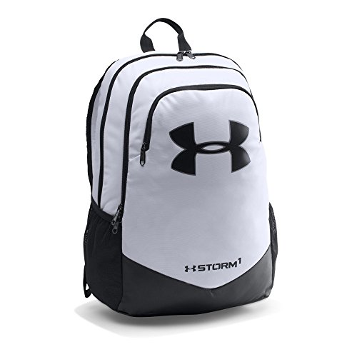 Under Armour Boys' Storm Scrimmage Backpack, White/Black, One Size