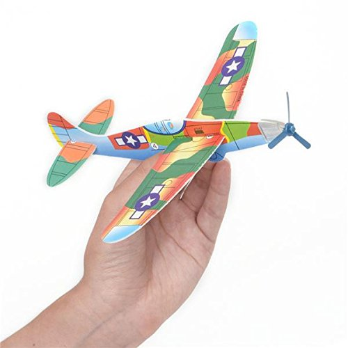 "Rhode Island Novelty 8"" Flying Glider Plane Set of 12"