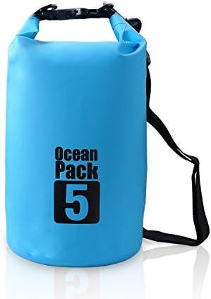 Campeador impermeable bolsa seca flotante Ocean Mochila Mochila Ligero Bolsa De con correa para el hombro ajustable, 15L US, Azul: Amazon.es: Deportes y aire libre