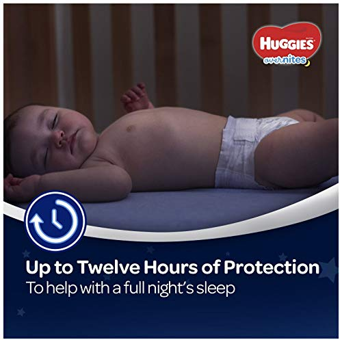 41Cc8am2oEL - HUGGIES OverNites Diapers, Size 6, 48 ct., Overnight Diapers (Packaging May Vary)