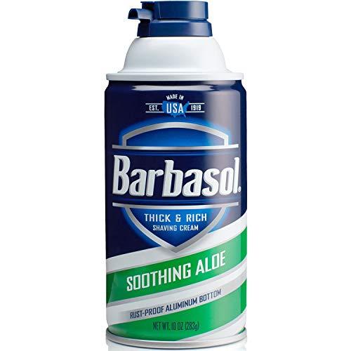 Barbasol Beard Buster Shaving Cream Soothing Aloe 10 oz (Pack of 6)