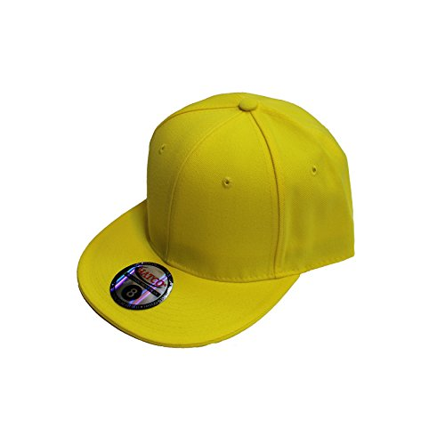(The Real Original Fitted Flat-Bill Hats by HATCO True-Fit (7 1/4, YELLOW))