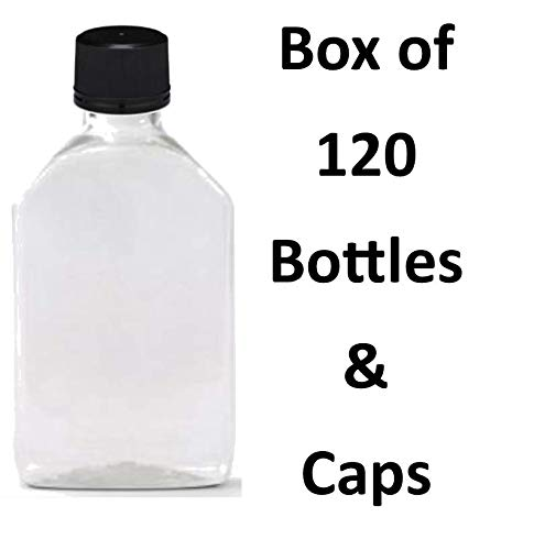 6dbb89b46d29 50 ml (1.7 Oz.) Premium Quality Flask Clear Plastic PET Bottle for  Beverage, Alcohol or Oil with Black...