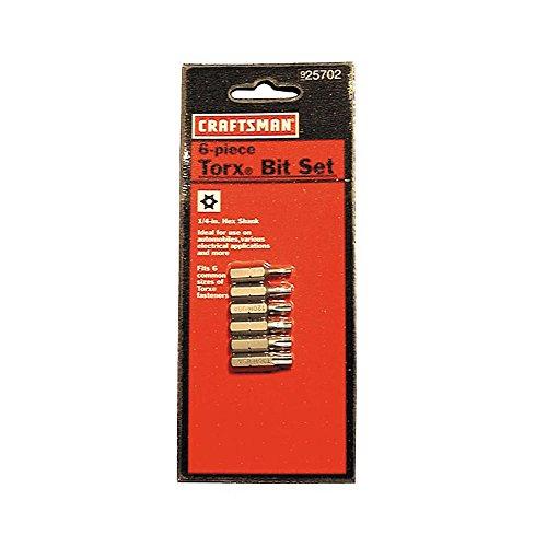 Craftsman 25702 Torx Security Bit Set, 6 Piece