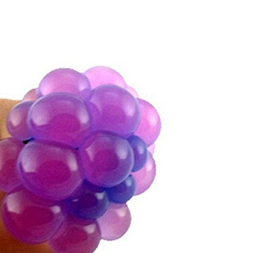 CHoppyWAVE Squeeze Toys Stress Reliever, Colossal Squishy Mesh Grape Ball Chicken Egg Slow Rising Toy Stress Relief - Grape