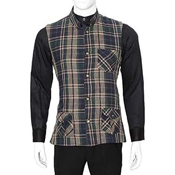 Libas Riyaz Gangji Multi Color Cotton Vest For Men