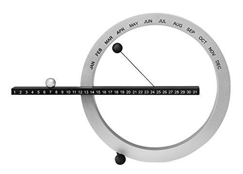MoMA Small Perpetual Calendar - Silver/Black