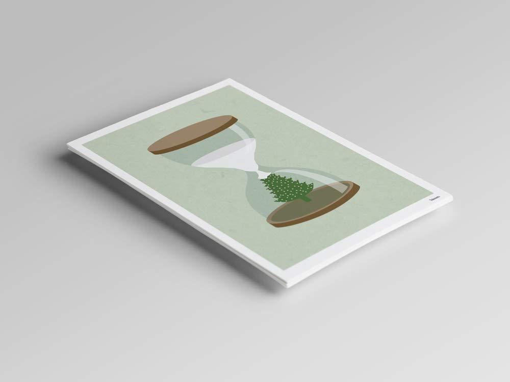 Schneeball Karten Schnee Uhr /— Weihnachtskarte Tannenbaum Gru/ßkarten Weihnachten Tanne Winter Weihnachtsbaum mit Schnee Winter