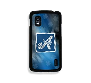 Blue Monogram A Google Nexus 4 Case - Fits Nexus 4