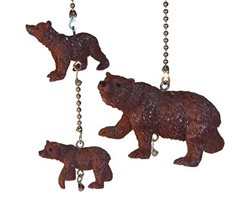 Wildlife Ceiling Fan Pull Ceiling Fan Pull Bears Elk Moose (Brown Bear Set)