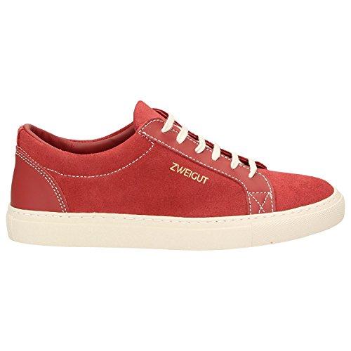 und 412 Zweigut Alter Autositze upcycling aus Hamburg Leder Schuhe Dem Nachhaltig Echt Rot Leder Herren Sneaker qRpqOxHUw