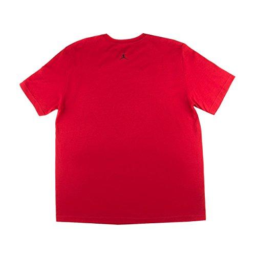 La Giordania uomini Giordania Champagne T-Shirt X-rossa di grandi dimensioni