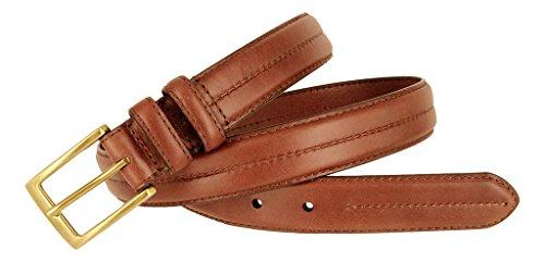 Mens Italian Genuine Leather Dress Belt 1-1/8