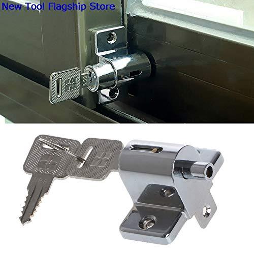 Ants-Store - Zinc Sliding Window Patio Screw Door Locking Pin Push Child Safety Lock 2018 New