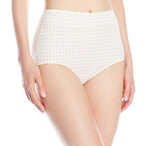 - Warner's Women's No Pinching No Problems Modern Brief Panty, Bodytone Polka Dot Print, 7