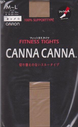 スズメバチ縮約欲求不満(カタクラ)CARON CANNA CANNA フィットネスタイツフットレス(足なし)50デニール相当フィットネス&ダンス