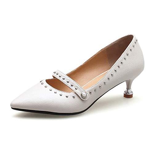 Black Spring Basic Pink Cone Comfort Women'S Shoes Fall Heel Beige Pu Pump QOIQNLSN amp; Beige Heels Polyurethane 1OqwA