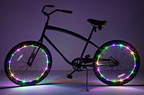 Brightz WheelBrightz LED Bicycle Wheel Accessory Light (2-Pack Bundle for 2 Tires), Pastel