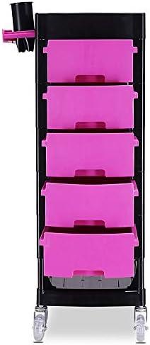 サロントロリーローリングカート 美容院ヘアー理容用品ツールカートトロリーキャビネットホット染色オイルラック スタイリスト美容院 (Color : Green, Size : 36x30x91cm)