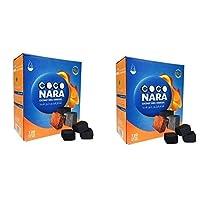 CocoNara 2 - Box of 120 Piece Coconut Coco Nara Coconara Premium Lighting Hookah Hookah Charcoal Coals- 2 Count