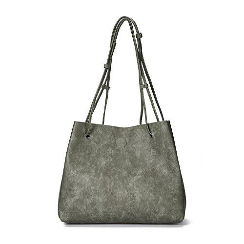 XIAOWANG, Borsa a spalla donna grigio Gray