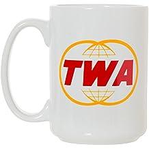 TWA Trans World Airlines Large 15 oz Double-Sided Coffee Tea Mug (TWA)