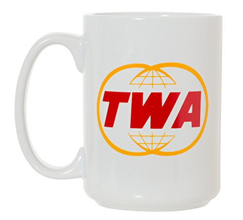 TWA Trans World Airlines Large 15 oz Double-Sided Coffee Tea Mug (TWA)