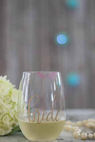 Bride Tribe Durable Plastic Stemless Wine Glasses for Bachelorette Parties, Weddings and Bridal Showers (8 PIECES) by Samantha Margaret (Image #3)