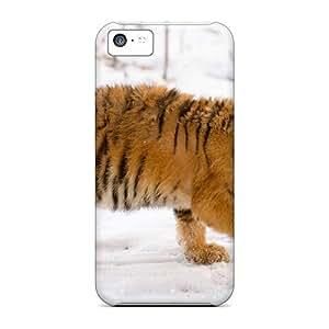 Cute Appearance Cover/tpu IzT2642tyNC Snow Tiger Cub Case For Iphone 5c