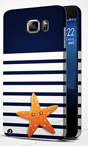Jhingalala ® Blue Pattern with Star Fish Design Printed Mobile Back Case Cover for Samsung Galaxy S6