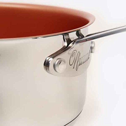 NuWave 3 Quart Non-stick Saucepan with Tempered Glass Lid by NuWave