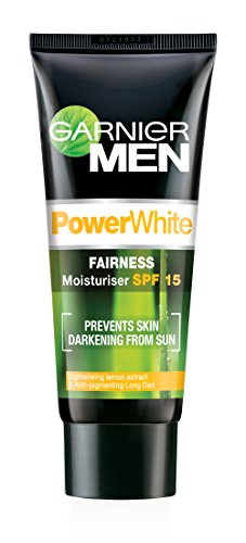 Garnier Men Power Light Fairness Moisturiser Spf 15, 45 G 50Gm - Intensive Protection Spf 15 Moisturizer