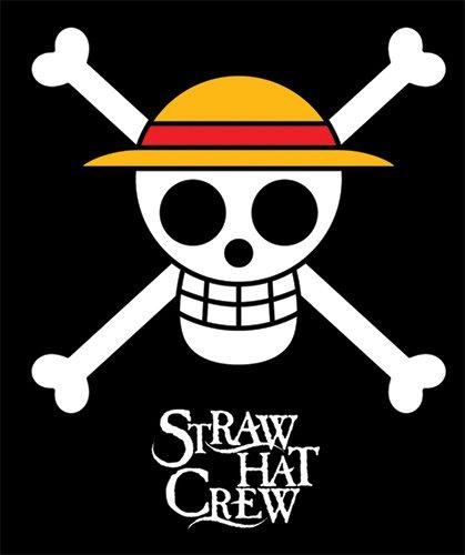 "GE Animation GE-57051 One Piece Straw Hat Pirates Throw Blanket, 50"" x 60"""