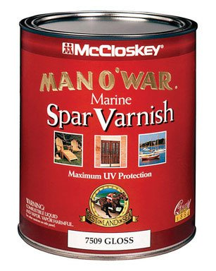 Interior Gloss Varnish (Man O'War 7509-05 Marine Spar Varnish, Interior / Exterior Gloss, 4 Quantity)