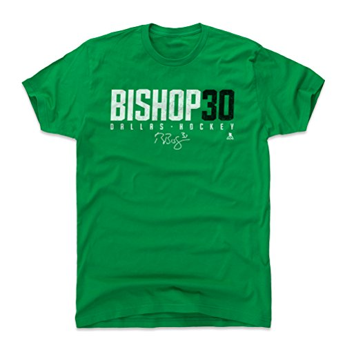 - 500 LEVEL Ben Bishop Cotton Shirt (Medium, Kelly Green) - Dallas Stars Men's Apparel - Ben Bishop Bishop30 W WHT